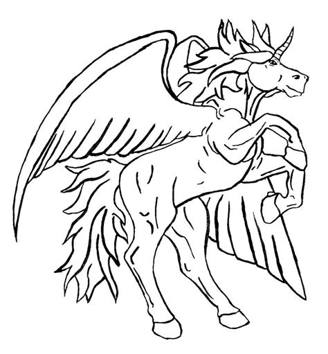 black and white coloring pages of unicorns malvorlagen fur kinder ausmalbilder pegasus kostenlos