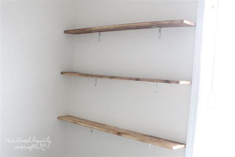 we lived happily after easy diy floating shelves