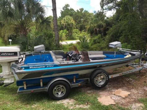 ranger bass boat ski pole ranger bass boat ranger 375v 1986 for sale