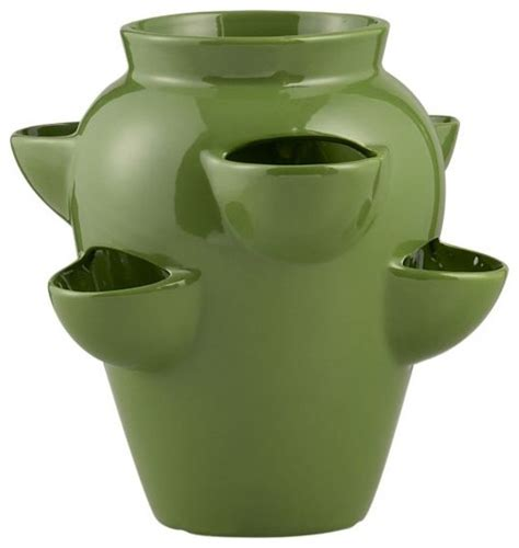 Planters Pots by Strawberry Pot Mediterranean Outdoor Pots And Planters