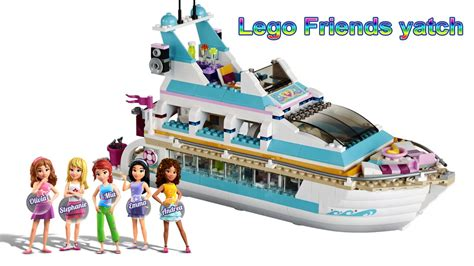 lego boat in motion lego friends yacht stop motion animation dolphin cruiser