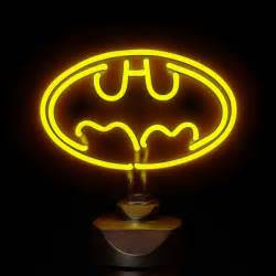 batman light dc comics batman 30cm wide neon light gifts thehut