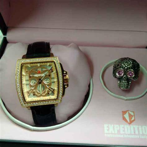 Fossil Kulit White Rosegold promo jam tangan sport expedition e6688 original