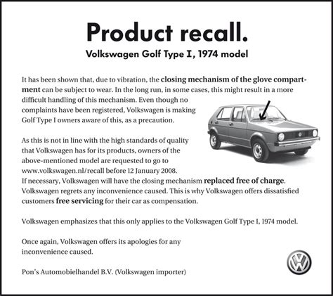 Sle Letter For Product Recall Volkswagen Product Recall The Inspiration Room