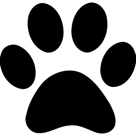tiger paw print stencil cliparts co