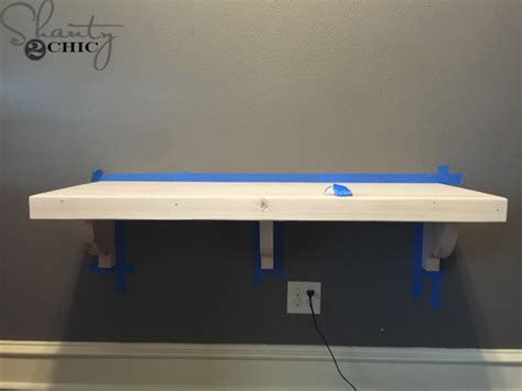 Office Desk Large Diy Floating Desk For Office Towers Shanty 2 Chic