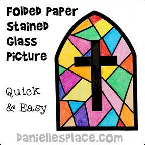 How To Make A Paper Stained Glass Window - folded paper stained glass picture www daniellesplace