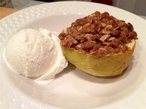 baked apples stuffed with cinnamon date pecan oatmeal recipe dishmaps