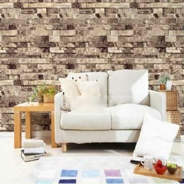 Hk Accesories Hk 011 Stiker Dinding Wall Sticker Murah 1 10m 3d stack brick tile effect modern vintage