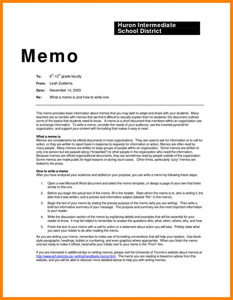 business letters memos 5 exles of business memos emt resume