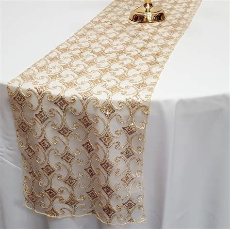 gold lace table runner sequin cord lace table runner
