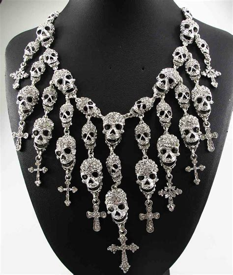 Gorgeous Jewelry by Newest Gorgeous Fashion Necklace Skeleton Skull Cross
