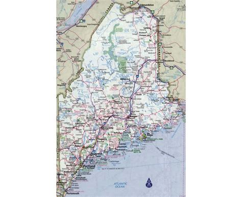 road map maine usa maps of maine state collection of detailed maps of maine