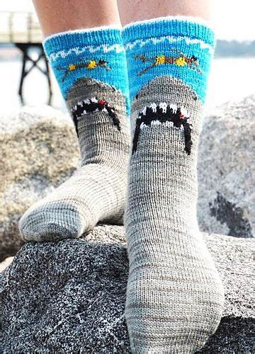 knit shark socks shark bite pattern by lara smoot bags stitches and knit