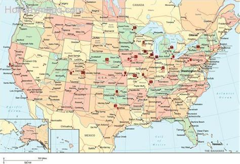 us cities map cities and states of usa holidaymapq