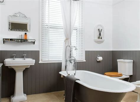 painted bathrooms ideas traditional bathroom with grey roll top bath and painted