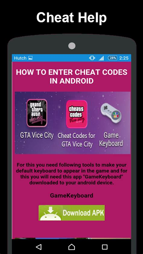 cheats app for android codes for gta vice city android apps on play