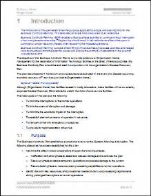 A Essay Introduction Exle by Business Continuity Plan 48 Pg Ms Word 12 Excel Template