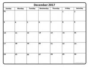 Calendar 2017 December Printable Pdf December 2017 Printable Calendar Page It Works