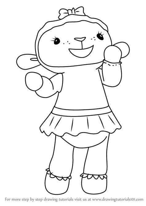 learn how to draw lambie from doc mcstuffins doc