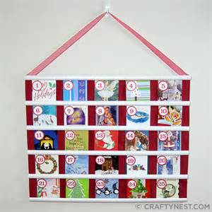 recycled christmas card advent calendar crafty nest