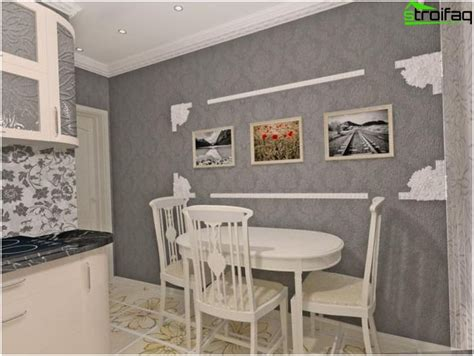Grey Wallpaper Kitchen | wallpaper for the kitchen a photo design what to choose