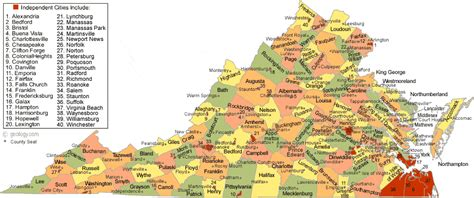va county map virginia county map