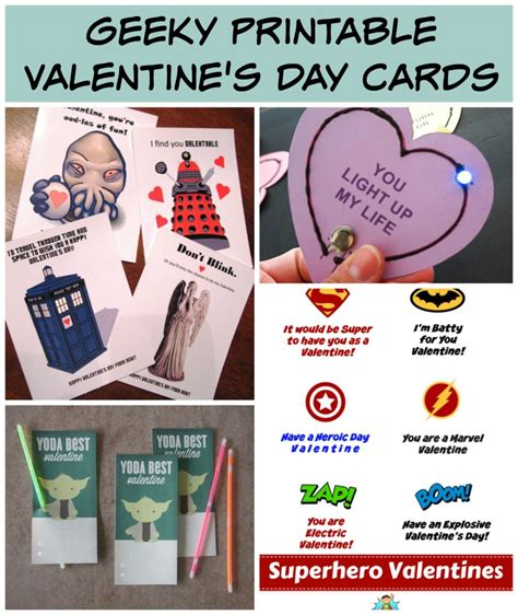geeky card free printables for geeky s day cards family