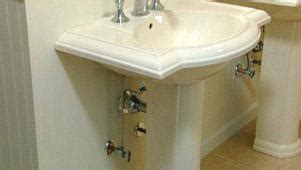 convert pedestal sink to vanity bathroom sink diy how to diy
