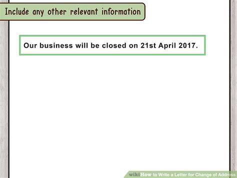 Business Letter Advising Change Of Address how to write a letter for change of address with pictures