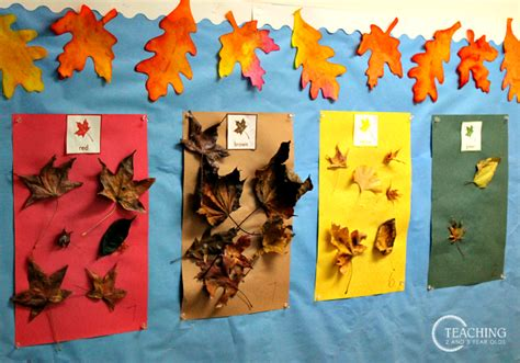 printable leaves for sorting fall leaf sorting with free printable cards
