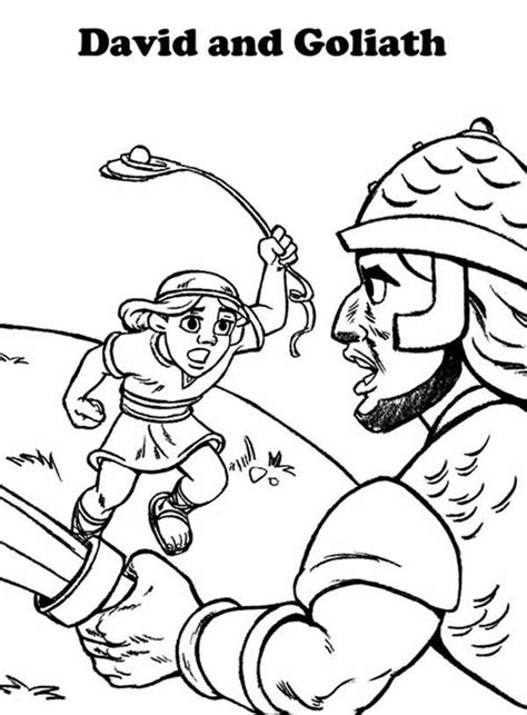david and goliath coloring pages printables coloring pages