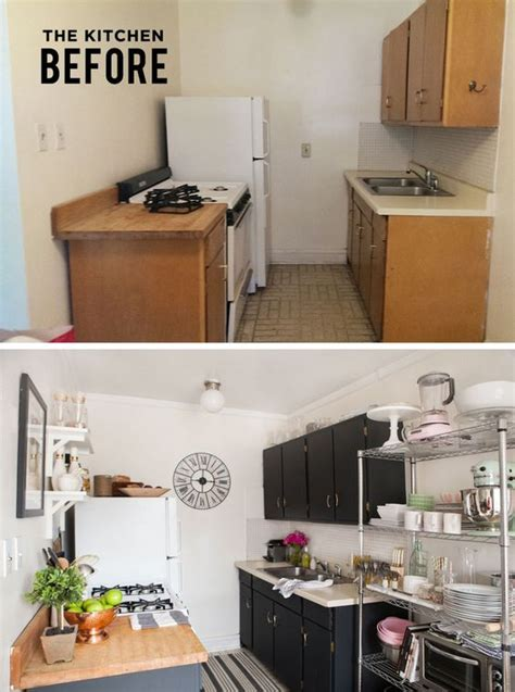 small kitchen ideas for studio apartment what a great transformation and in a rental too alaina