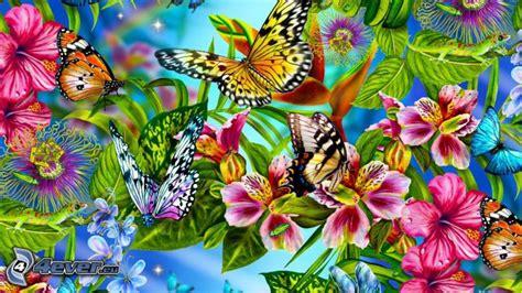 fiori farfalle farfalle