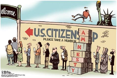 political cartoon about illegal immigration the american tea party immigration reform democratic