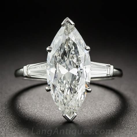 3 71 carat marquise ring i si2 vintage