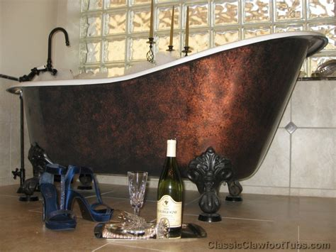 bronze bathtub 57 quot cast iron slipper clawfoot tub classic clawfoot tub