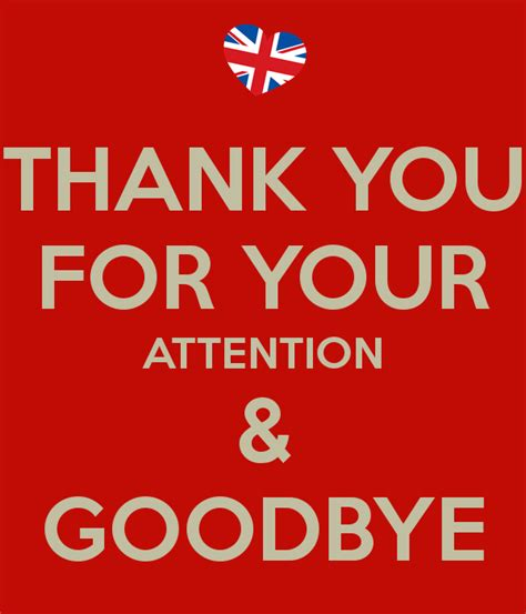 Mug Design by Thank You For Your Attention Amp Goodbye Poster Suzanne