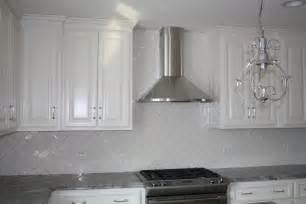 White Tile Backsplash Kitchen Large Subway Tile Design Ideas Studio Design Gallery