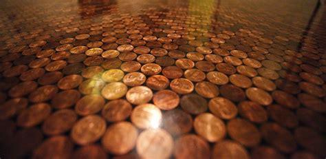 Kitchen Flooring Ideas Photos Penny Tile Floors Using Copper Coins As Mosaic Tiles