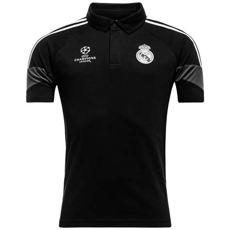 real madrid polo chions league black white www