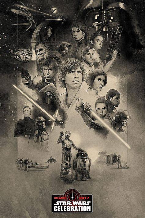 star wars anniversary star wars celebration 40th anniversary poster features