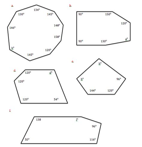 Total Interior Angles Of A Hexagon by Angle Sum Of A Convex Polygon Geometric Figures