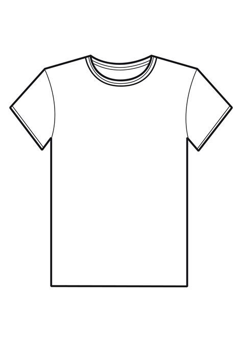 Drawing T Shirt Outline by Blank T Shirt Template For Colouring Clipart Best
