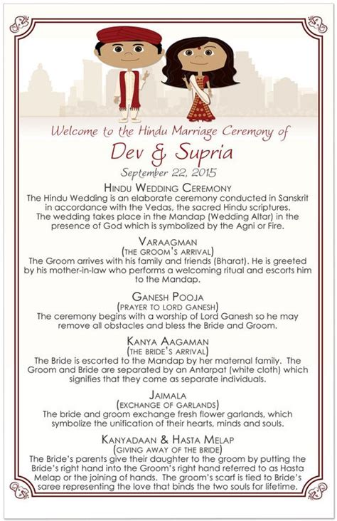 indian wedding program cards design template trending sweet program sheets and itineraries for indian