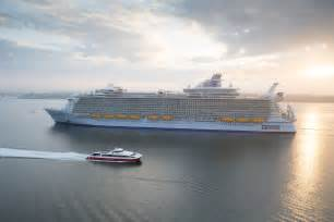 largest cruise line look world s largest ship harmony of the seas