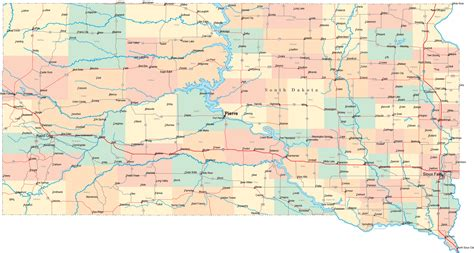printable south dakota road map south dakota road map sd road map south dakota highway map