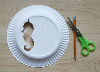 Paper Plate Colourful Seahorse Craft
