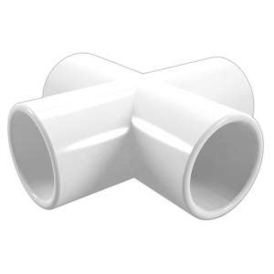 formufit 2 in furniture grade pvc cross in white 4 pack