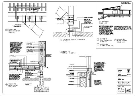Steel Construction Section by Details Wall Steel Frame Section Foundation Architecture